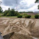 Beginning of pool digging