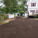 Leveled ground with front loader
